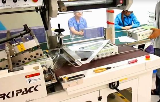 热收缩包装机案例—电子行业手机平板电脑外包装膜