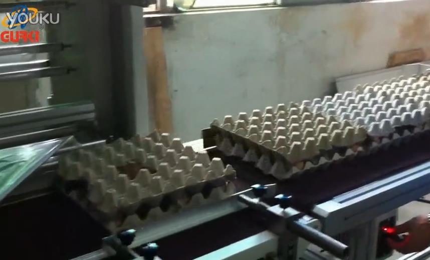 鸡蛋包装托盘蛋托使用热收缩机包膜案例