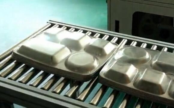 餐盘包膜机 固尔琦全自动边封收缩包装机