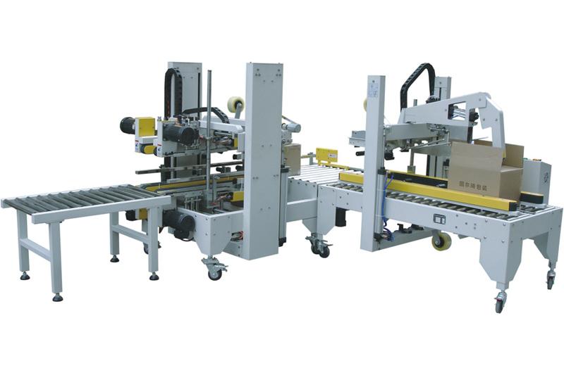 全自动折盖封箱机配套四角边封箱机GPI-50+GPH-50